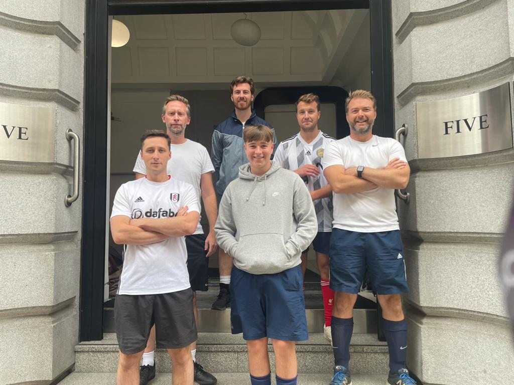 Farebrother FC battle it out at the Midtown Business Club's third annual 5-a-side football tournament